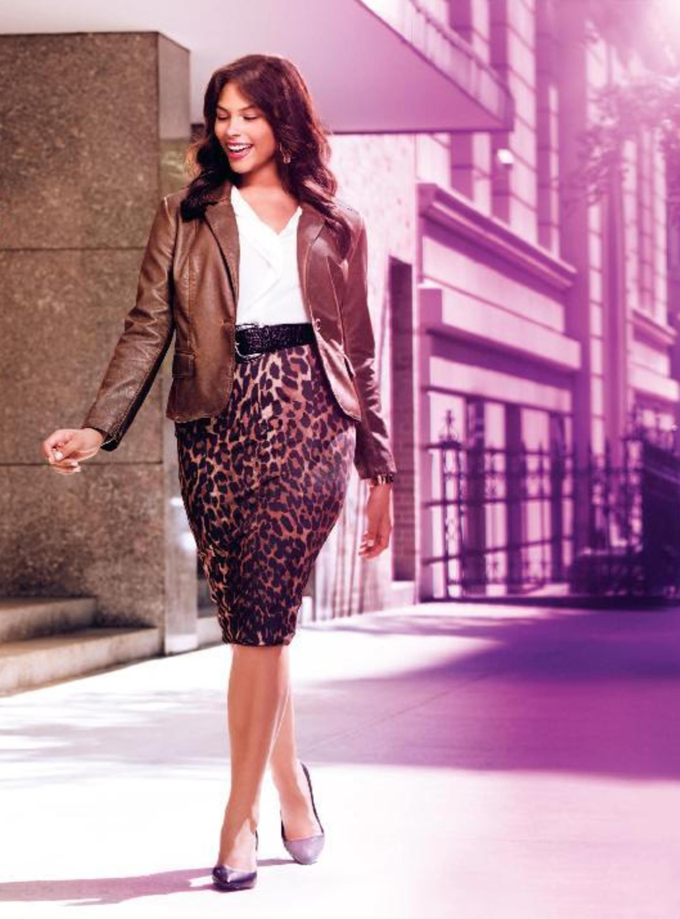 253bce2eb38 Animal Print Mid Length Pencil Skirt.  Lanebryant reinvented the classic pencil  skirt with a bold animal print and longer