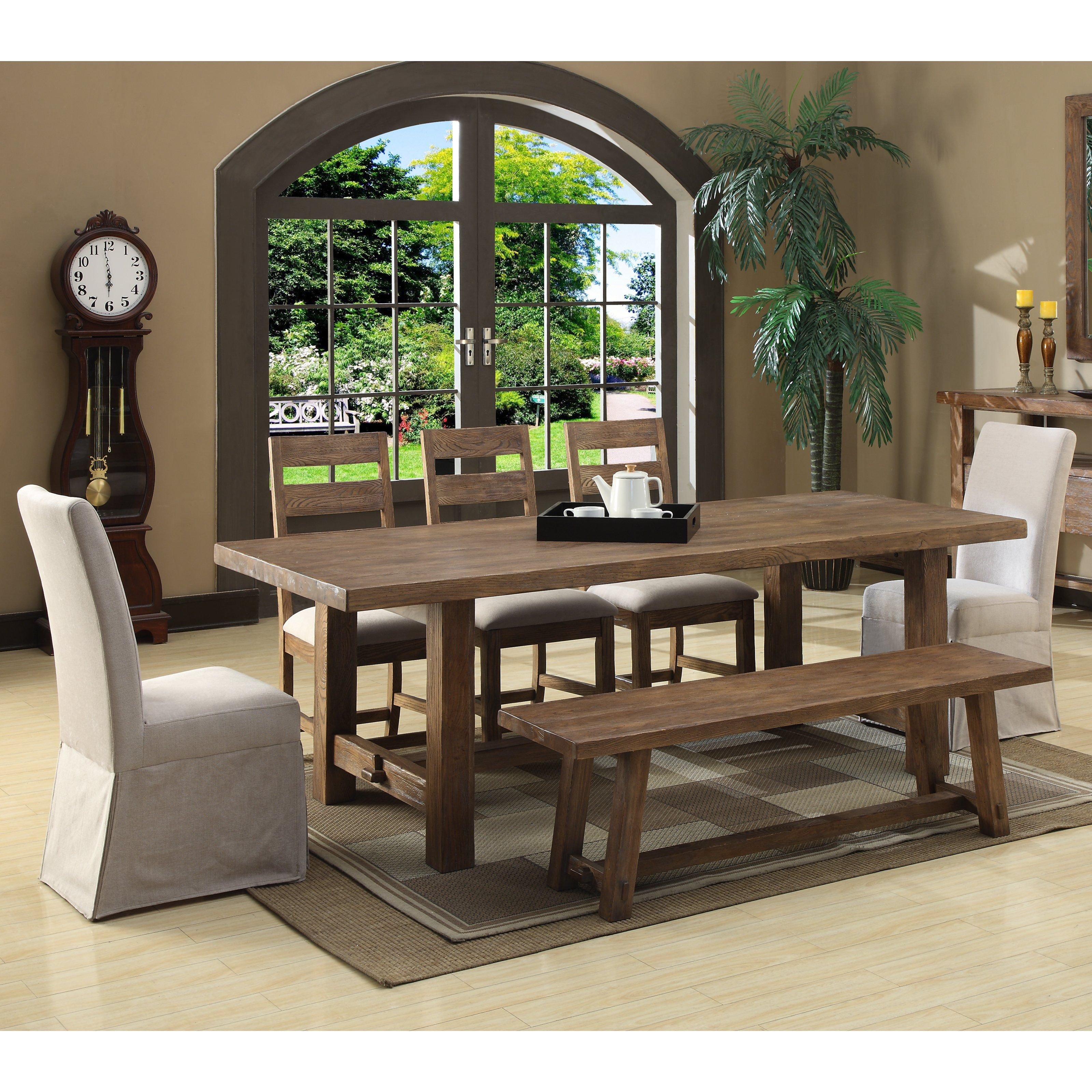 Cute For Casual Dining Room Emerald Home Bellevue 7 Pc Dining Set 2401 99 Dining Table In Kitchen Dining Table Emerald Home Furnishings
