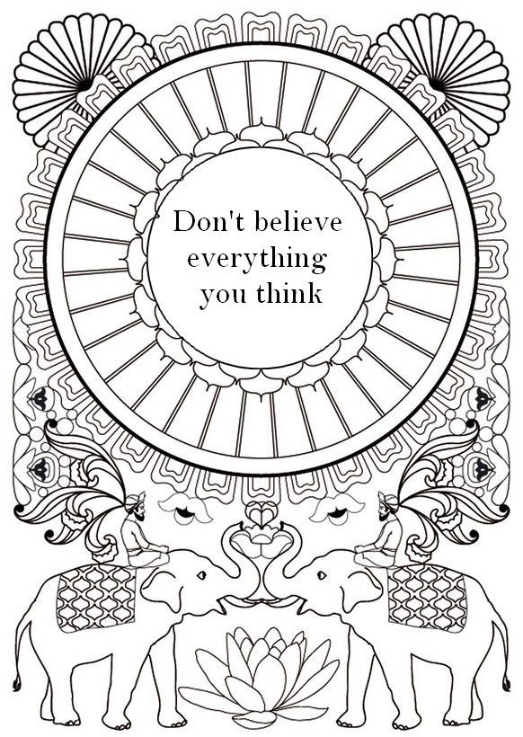 Mandala Elephants Coloring Page For Adults