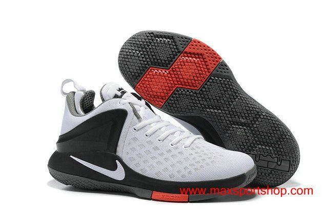 2017 Nike Lebron Witness White Black Red Men's Basketball Shoes For Summer  $67.00