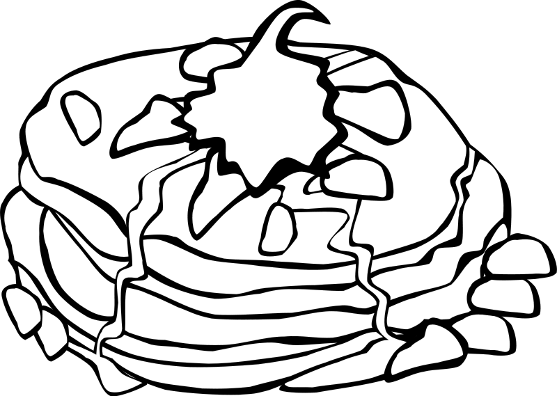 breakfast food coloring pages - photo#25