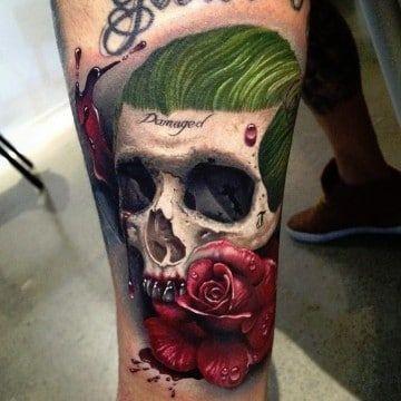 Tatuajes Del Guason Y Su Novia Super Heroes Dc Tatuajes Del