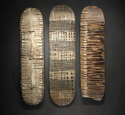 George Peterson Recycled Skateboard Sculpture R E C Y C L A R T - Self taught woodworker turning old skateboards awesome sculptures