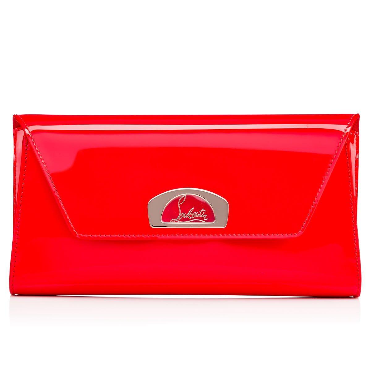 bc182b062e5c CHRISTIAN LOUBOUTIN Vero-Dodat Clutch Fraise Patent Calfskin - Handbags -  Christian Louboutin.  christianlouboutin  bags  patent  clutch  lining   hand bags ...