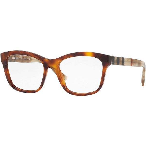 80ddd6604d1 Burberry Square Two-Tone Optical Frames (£180) ❤ liked on Polyvore featuring  accessories