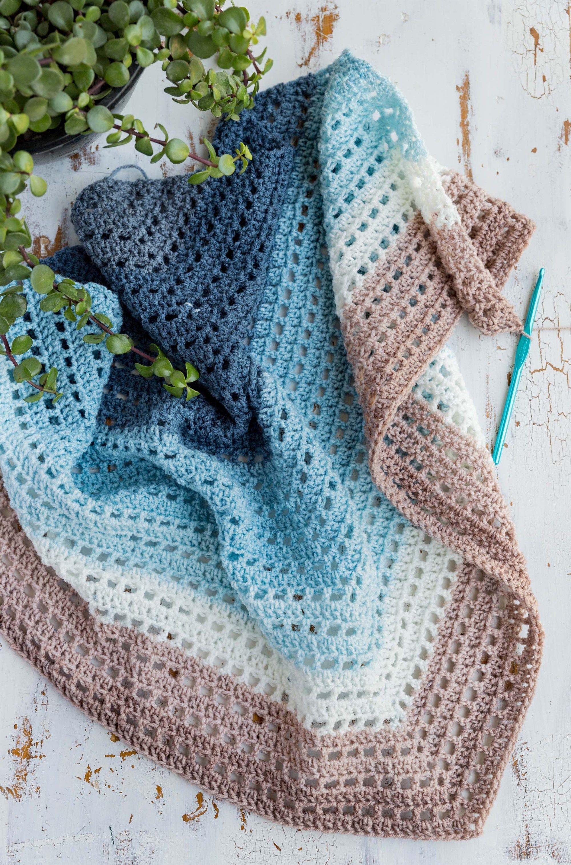 Crochet Wrap - Wishing Well Wrap - Free Crochet Pattern