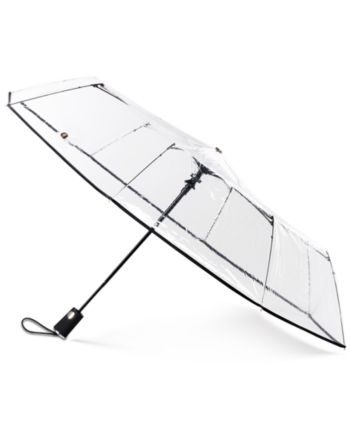 Totes 3-Section Auto-Open Clear Umbrella & Reviews - Handbags & Accessories - Macy's #clearumbrella