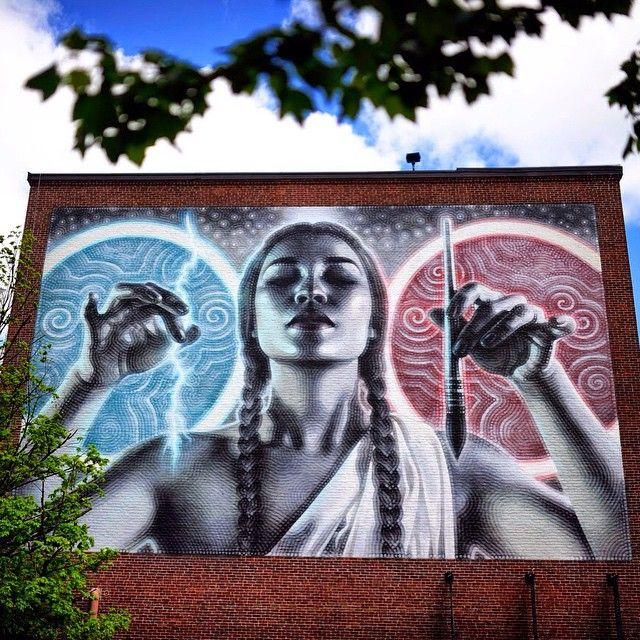 New mural by El Mac in Boston