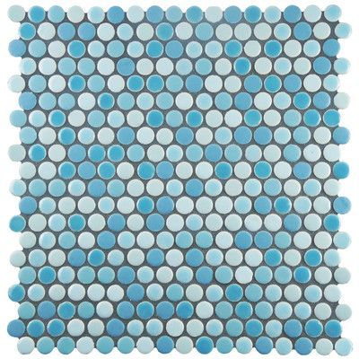 "EliteTile Astraea 0.62 x 0.62"" Porcelain Mosaic Tile in Oceano"