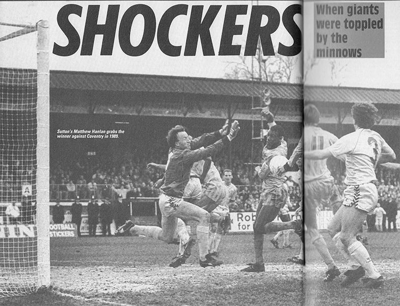 7th January 1989  Sutton United winger Matthew Hanlon