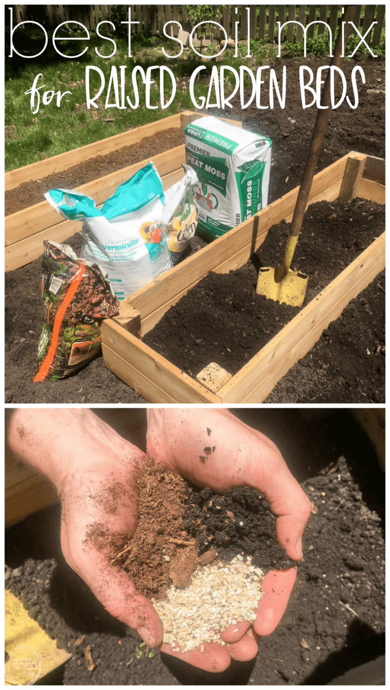 DIY Raised Garden Bed (and an easy soil mixture blend to fill it with #diyraisedgardenbeds