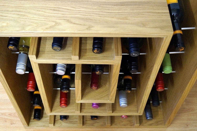 Square Spiral Wine Rack 25 Wine Rack Oak Wine Rack Natural