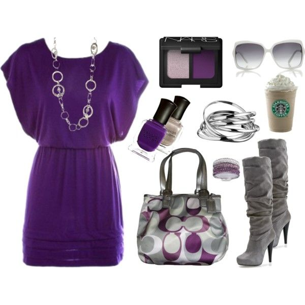 Purple and gray are made for each other