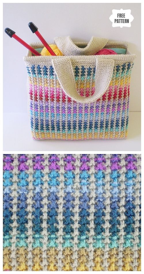 Knit Scrap Bag Free Knitting Pattern | Knitting patterns ...