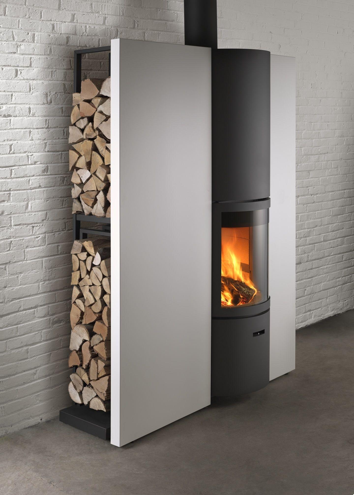 houtkachel in plaatsklare schouw Stuv 30 in Wood stove