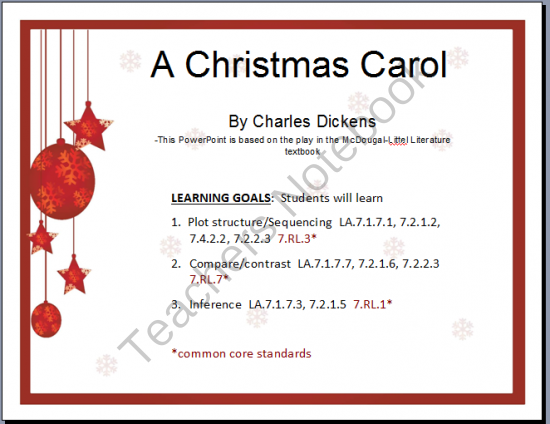A Christmas Carol PowerPoint and Cornell Notes   A Christmas Carol   Christmas carol, Cornell ...