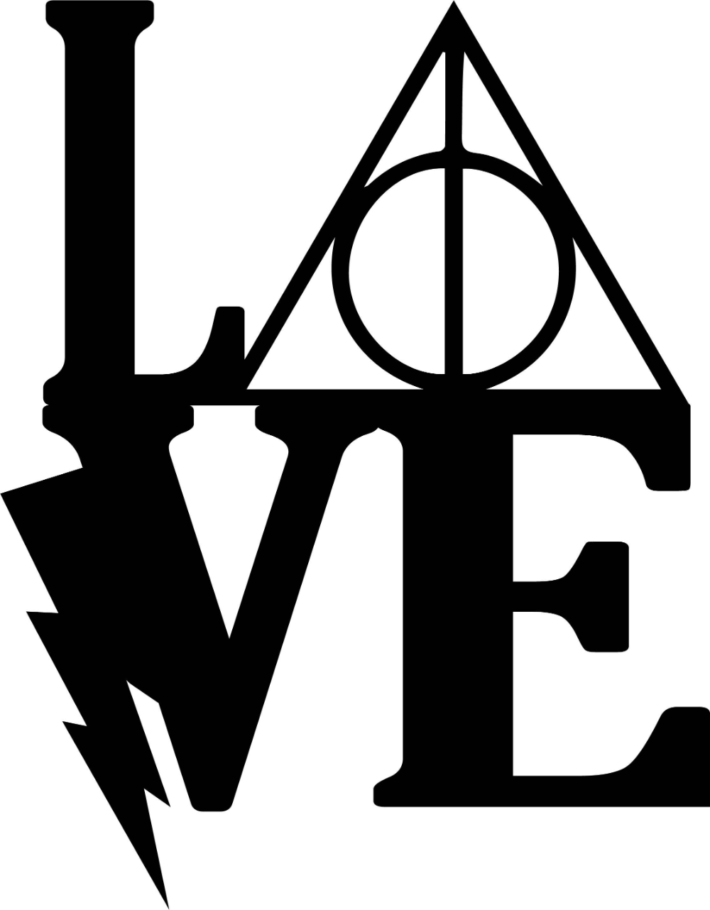 Download Library of harry potter love svg black ... | Harry potter ...