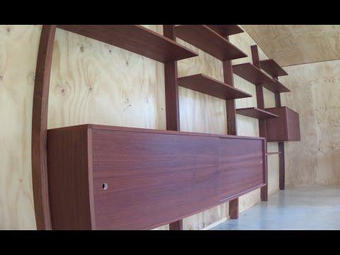 mid-century modern wall unit - YouTube | youtube woodshop ...