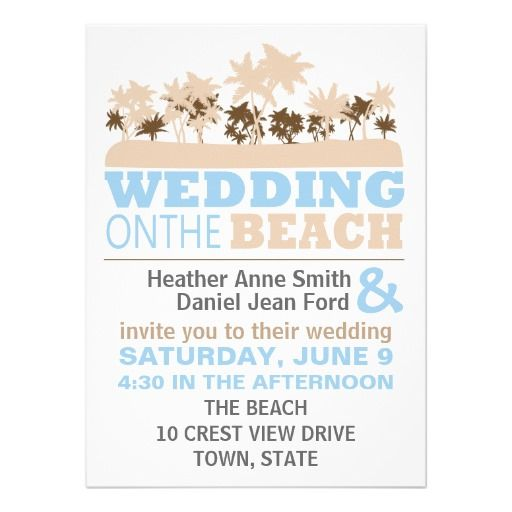 Modern And Fun Beach Wedding Invitations