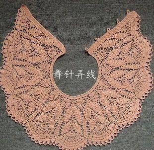 воротник накидка связанный крючком модное и элегантное украшение