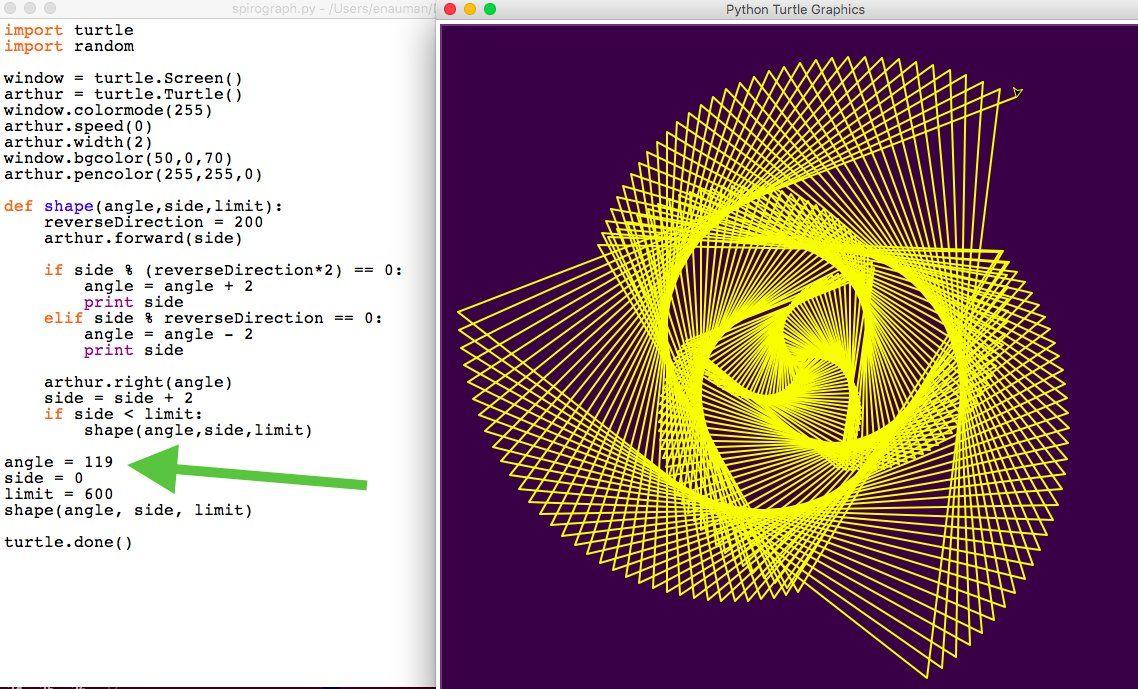 Bits To Atoms Reversing Skewed Triangle Python Turtle Python