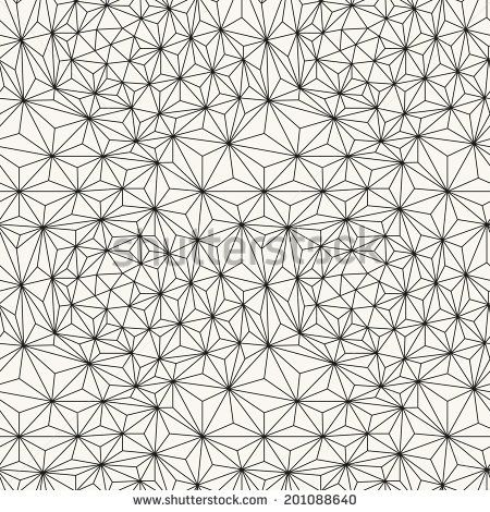 Seamless pattern. Irregular triangle grid. Stylish linear texture ...