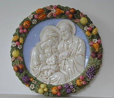 """italian ceramic store   Della Robbia Italian Ceramic Plaque Sacred Family 19"""" For Sale"""