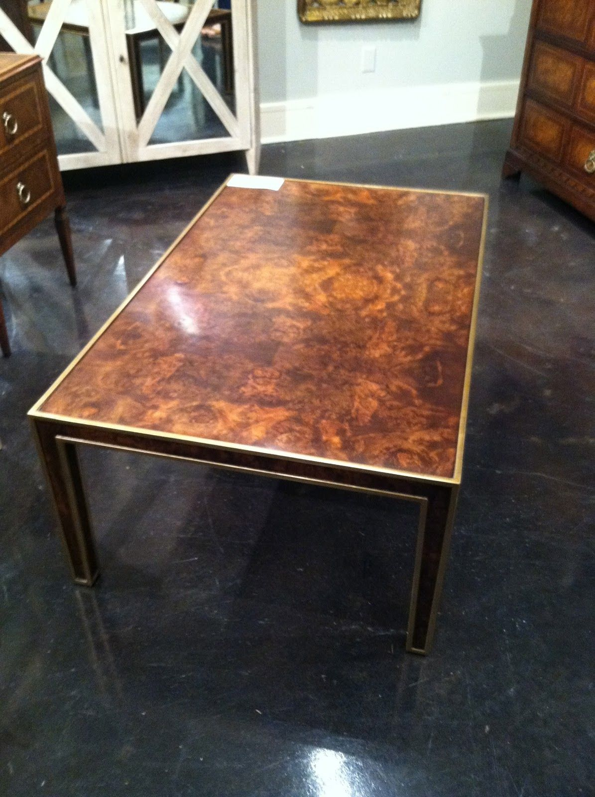 Obsession of the Day faux Tortoise Coffee Table by Modern History