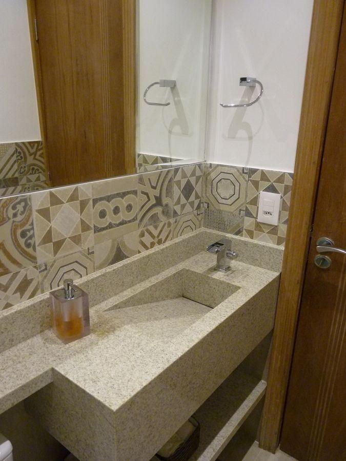 Pia esculpida em granito  Banheiro  Pinterest  Pia esculpida, Granito e Pias -> Pia De Banheiro Esculpida