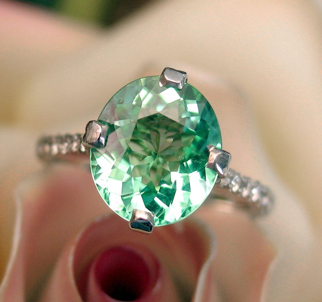 Extremely Rare 316ct Gia Paraiba Tourmaline Diamond Ring From Divinefind  On Ruby Lane