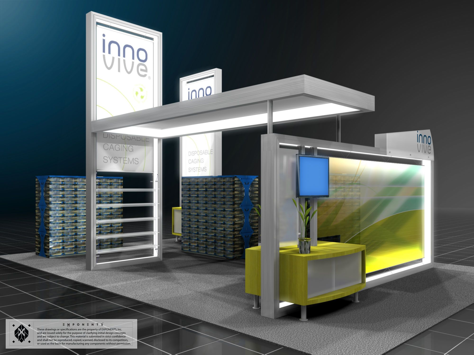 Modern Exhibition Stand Goal : Lumiture exhibit to know more about us visit