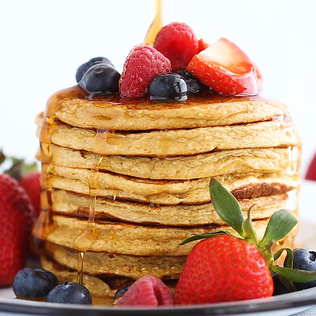 Cottage Cheese Banana Oatmeal Protein Pancakes Video Recipe Video Baked Breakfast Recipes Baking Recipes Recipes
