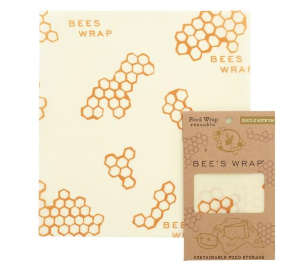 Bees Wrap Single ( medium ) Bees wrap, Reusable food