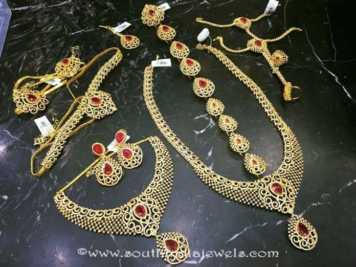 Imitation Ruby Bridal Jewellery Set