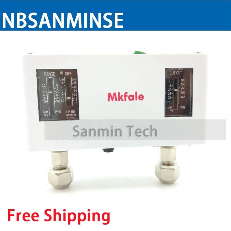 Find More Switches Information About Nbsanminse Pc58 G Npt 1 4 Uf7 16 M12x1 25 Dual Pressure Switches In Air Water With Two Pressure S Switches Pressure Switch