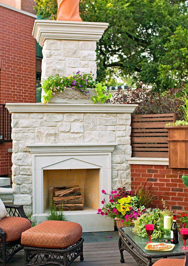 20 Outdoor Fireplace Ideas | Outdoor fireplace designs ... on Simple Outdoor Fireplace Ideas id=21851
