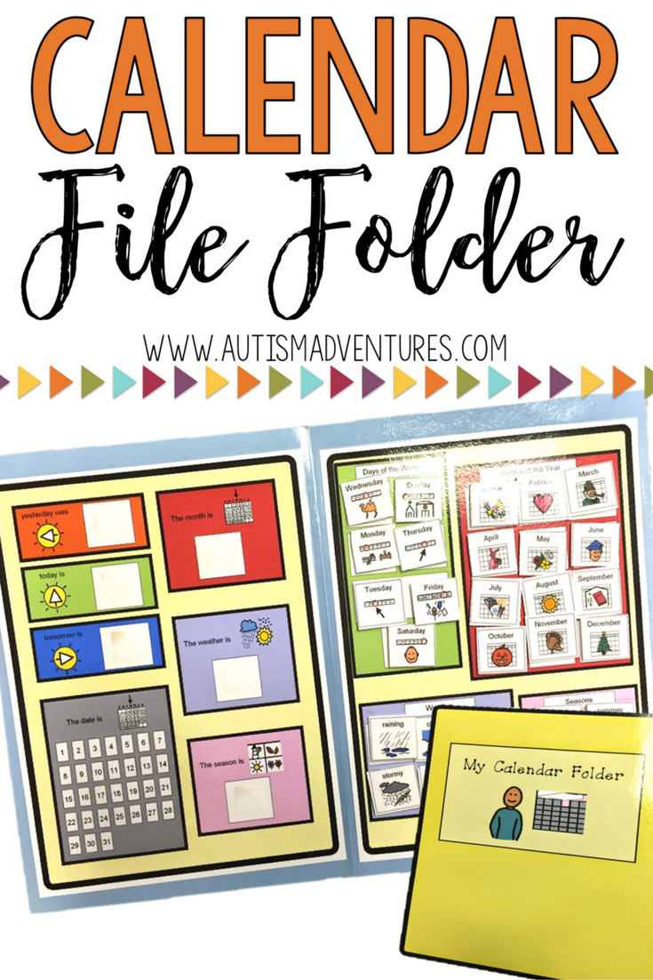 Classroom Interactive Ideas ~ Calendar file folder interactive activities for students