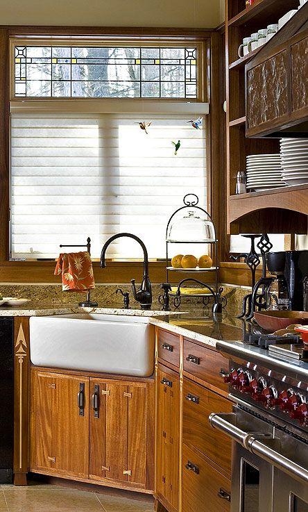 Corner Farmhouse Sink a new craftsman kitchen | craftsman style, armadi e fantasie