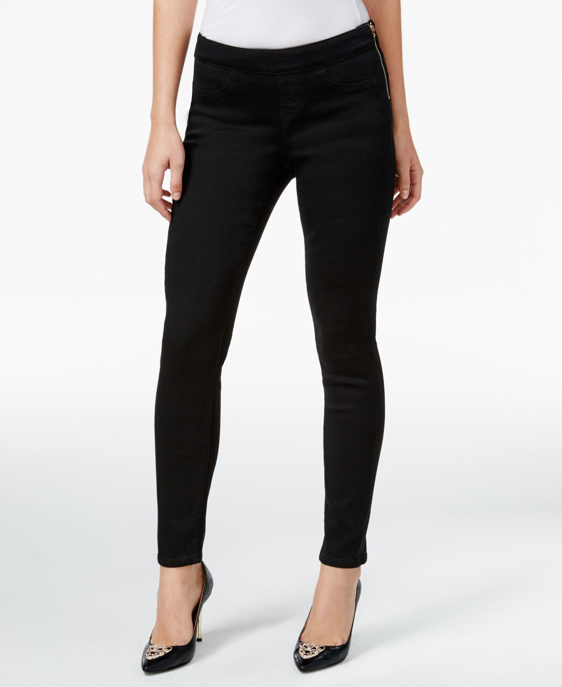 90b629a195fbd1 Thalia Sodi Black Wash Side-Zip Jeggings, Only at Macy's | Products ...