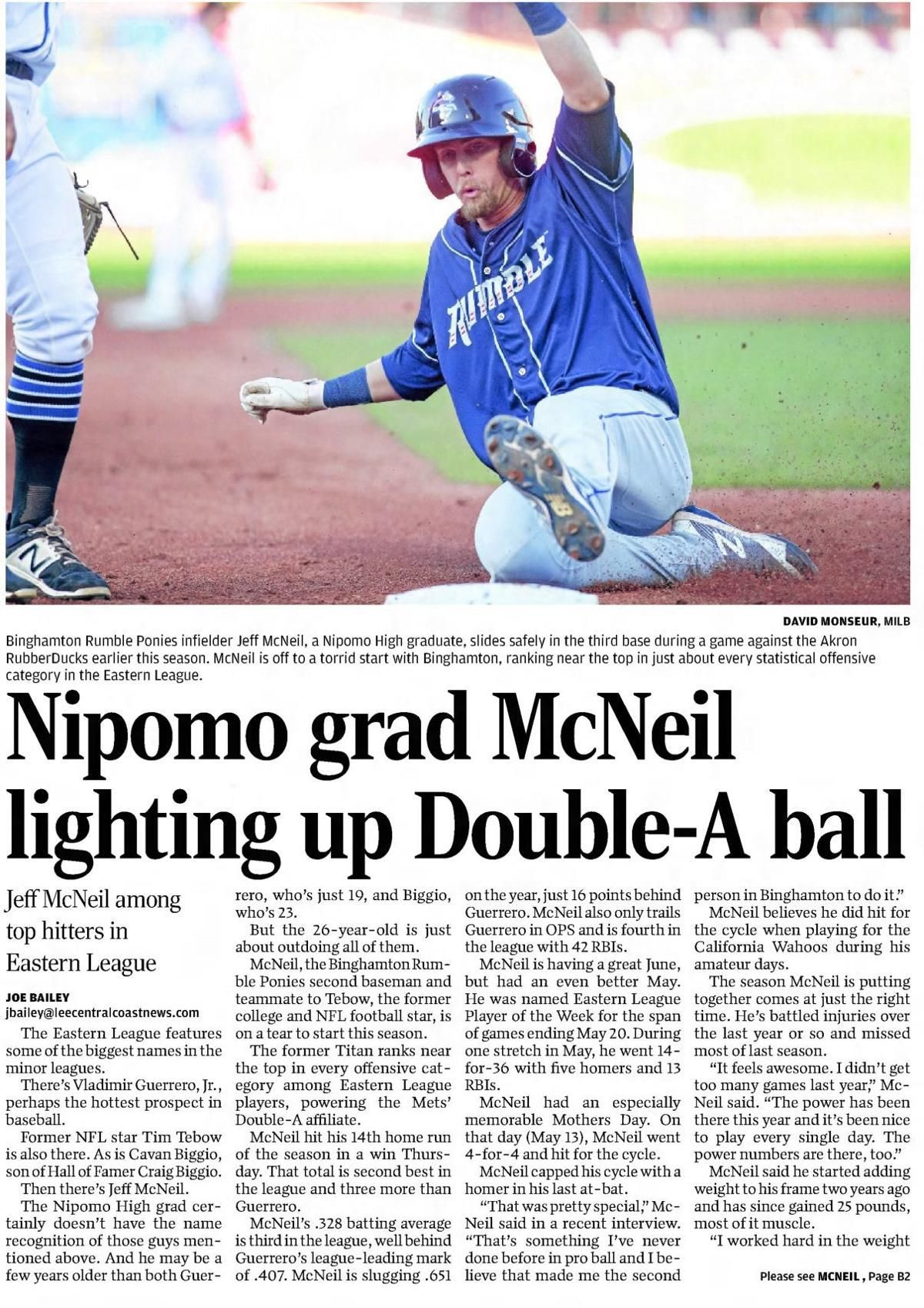 From The Vault New York Met Jeff Mcneil S Days At Nipomo High As A Golfer Mcneil Baseball History League
