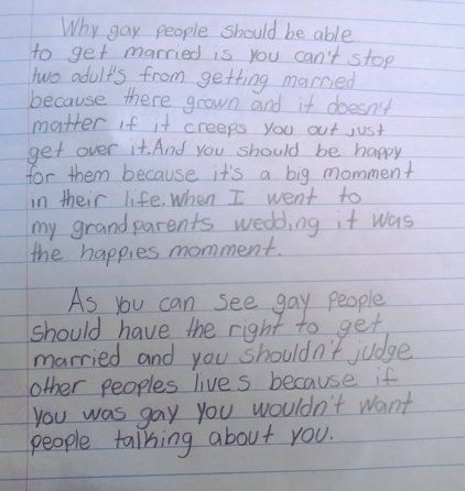 marriage equality essay