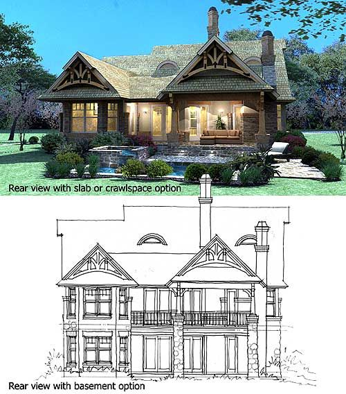 Plan 16812wg rustic look with detached garage mountain for Building a detached garage on a slope