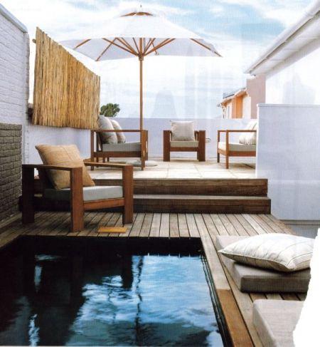Une mini piscine pour ma terrasse°° Small pools, Mini pool and Patios