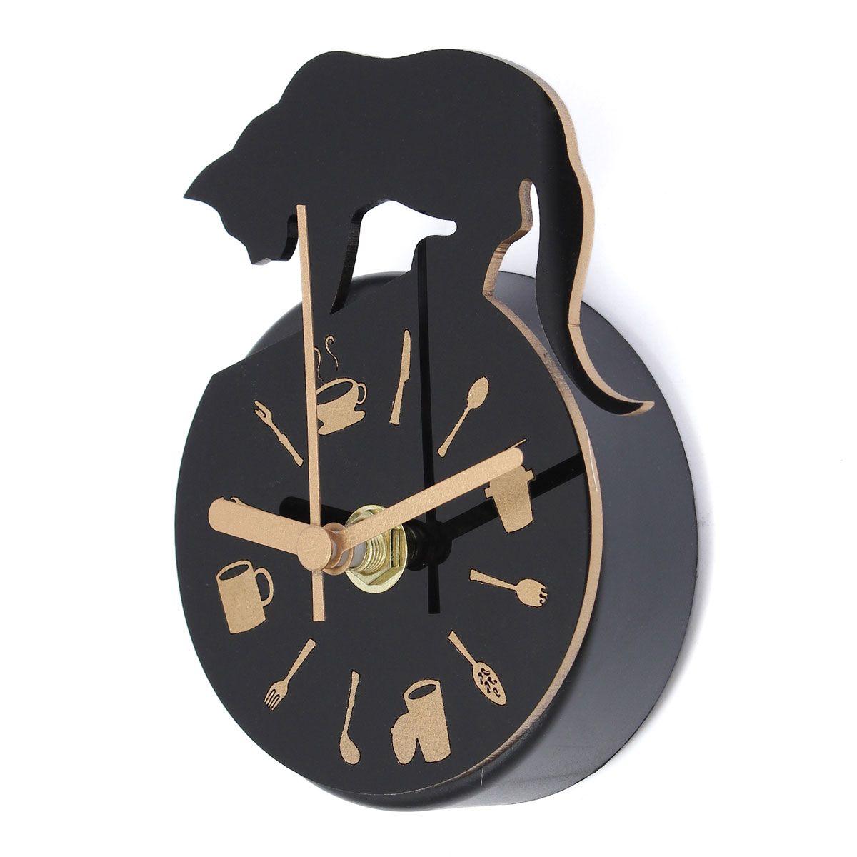 Reloj de imán Reloj de pared Reloj de pared de cocina Diseño de gato ...
