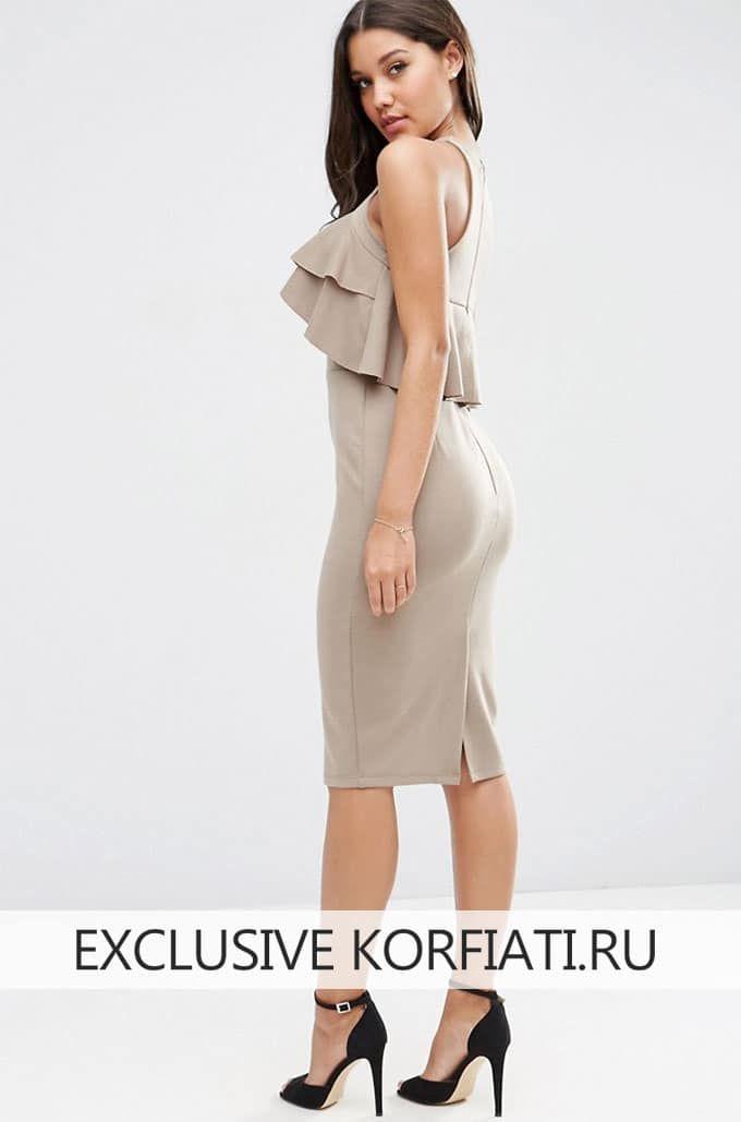 Выкройка открытого платья | Patrones de costura | Pinterest ...