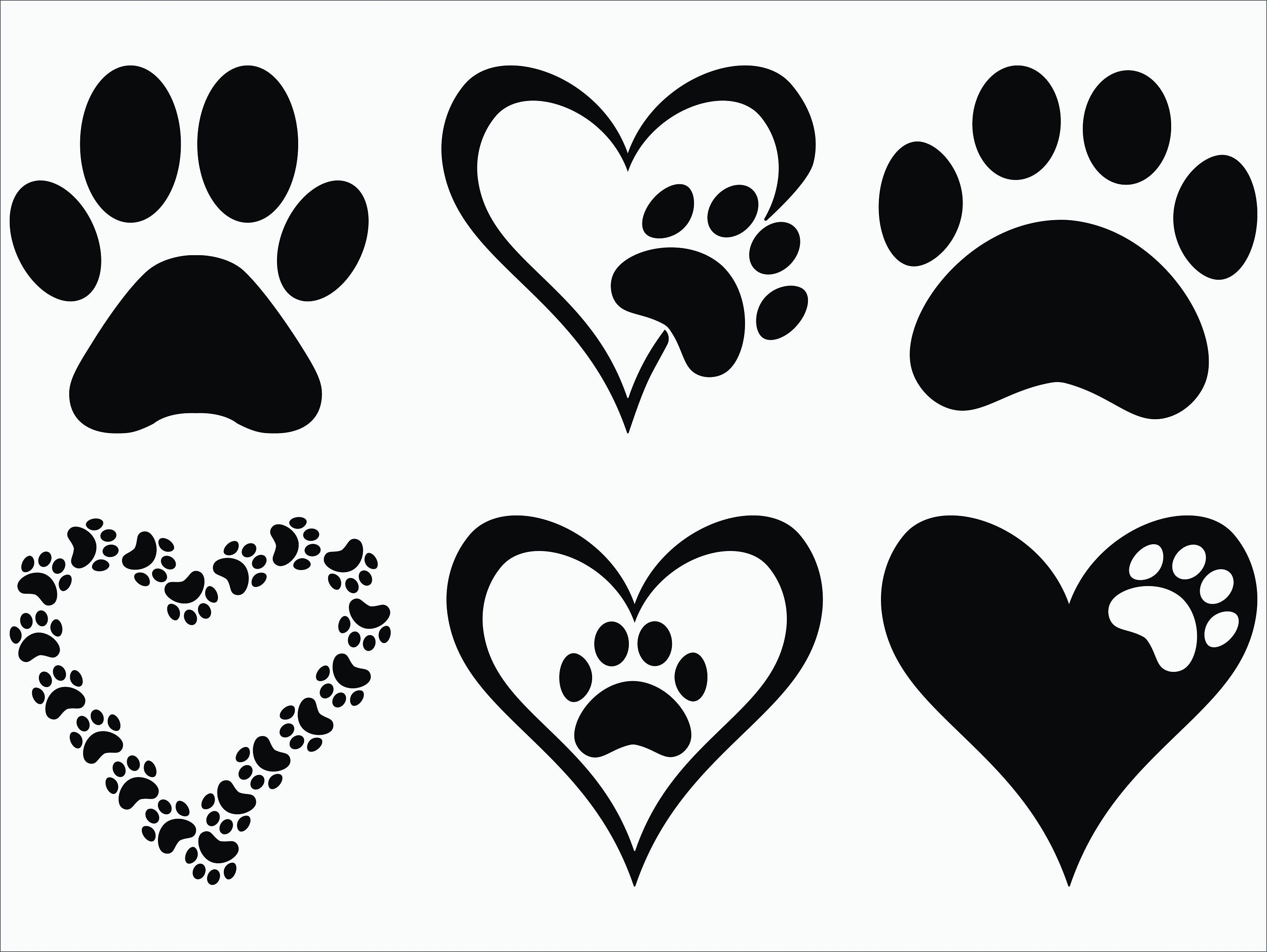 Paw Print Svg Eps Png 300ppi Dxf Paw Print Vector Etsy In 2020 Paw Print Art Dog Tattoos Clip Art