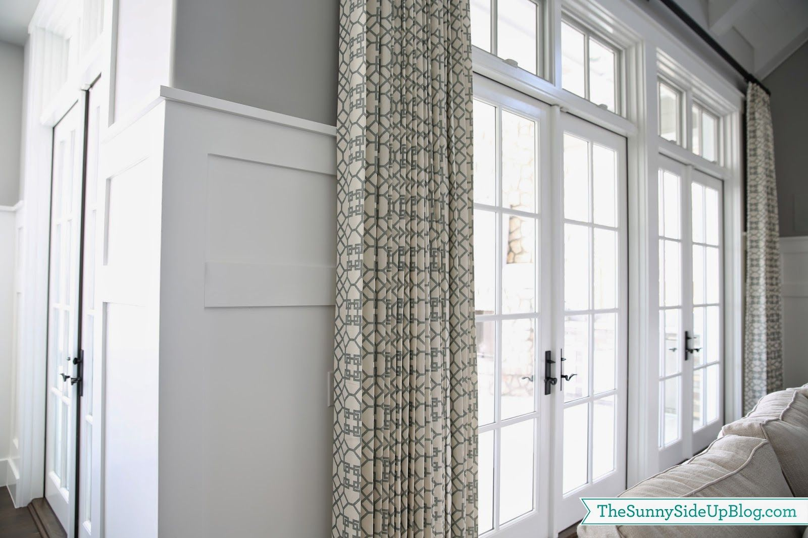 Family room drapes pillows