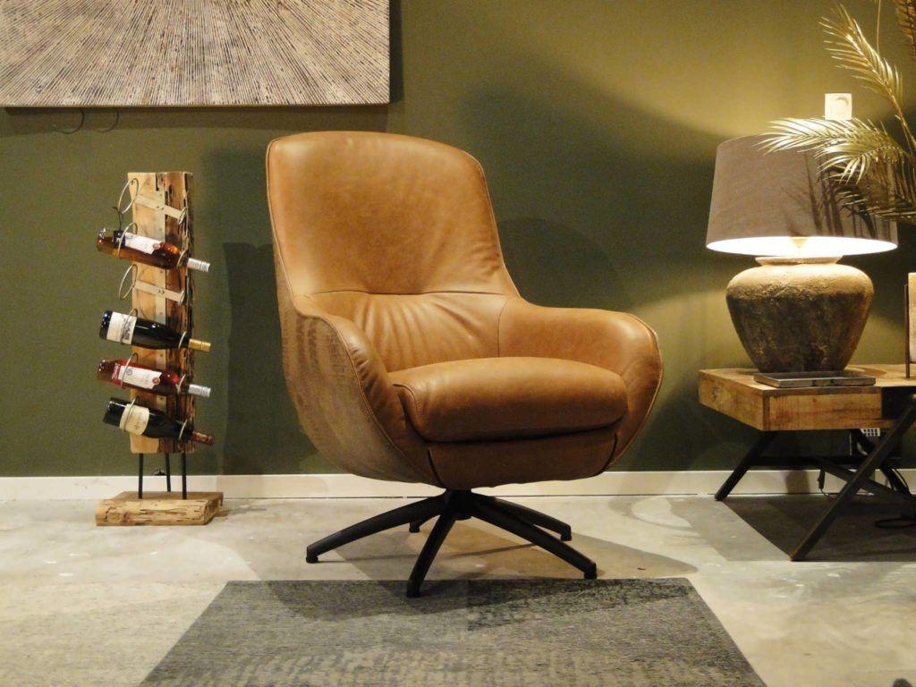 Antonio fauteuil van leer of stof met comfortabele zit