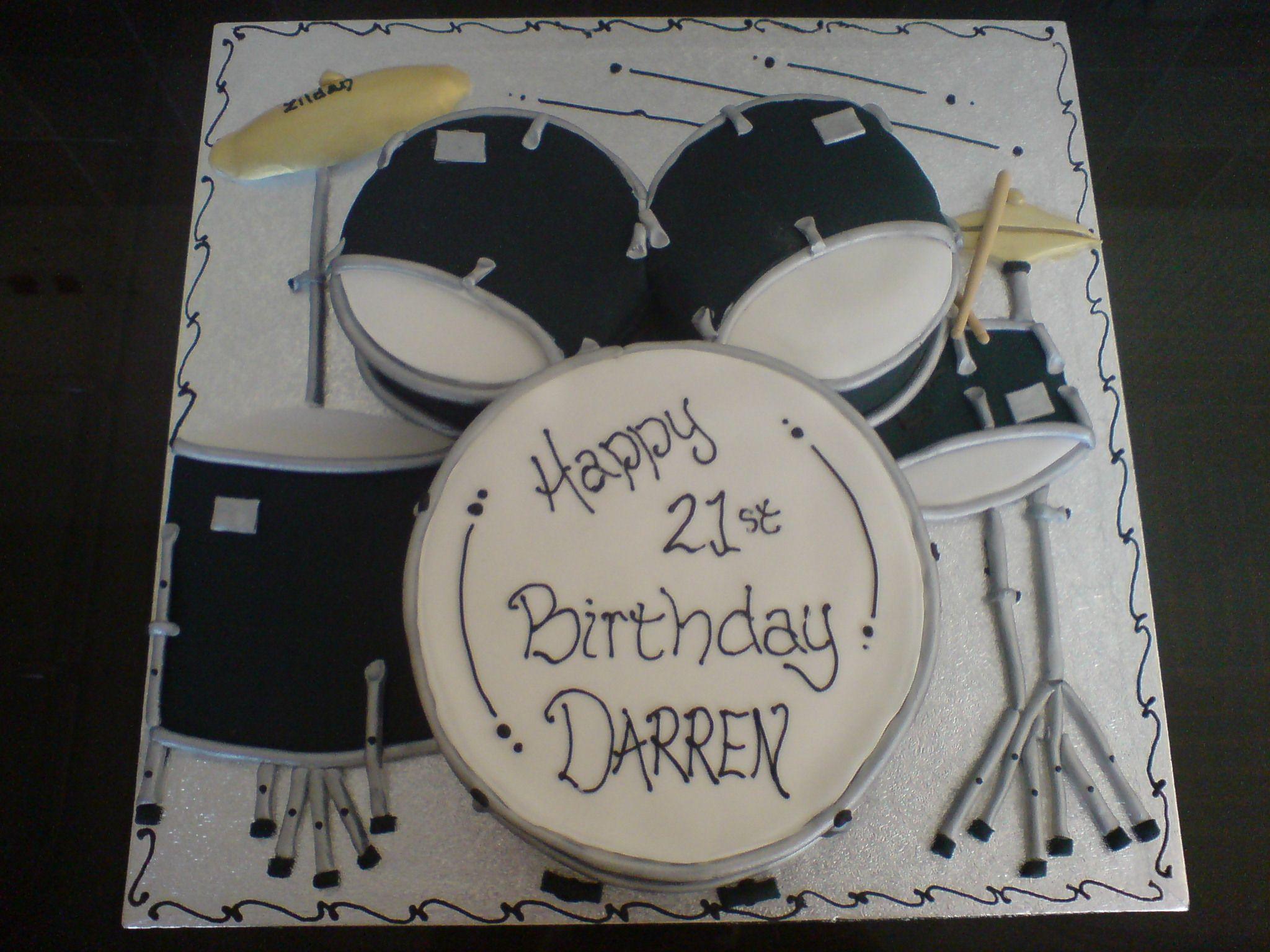 Cake Decorating Drum Kit : Drum kit cake (Bakery ideas) Pinterest