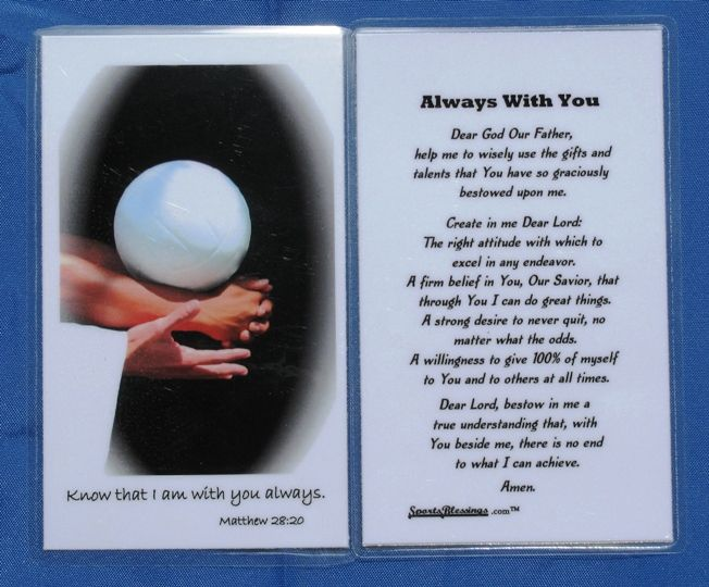 We Gave This To Each Volleyball Player Last Year And They Hung Them In Their Lockers Volleyball Players Volleyball Catholic Books